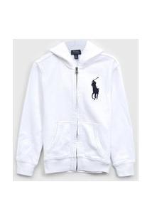 Jaqueta Polo Ralph Lauren Infantil Logo Branco