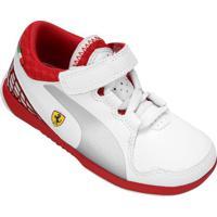 3e6dfa4eea0 Tênis Infantil Puma Valorosso Scuderia Ferrari 5 - Masculino-Branco+Vermelho