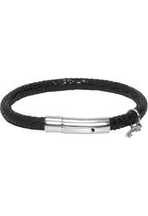 Bracelete Masculino Jack Sting - Preto