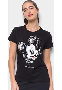 Camiseta Colcci Disney Mickey Feminina - Feminino-Preto