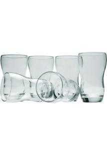 Conjunto De Copos Long Drink Samba 410Ml 6 Peças - Nadir - Transparente