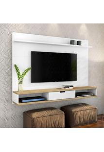 Painel Para Tv 48 Polegadas Tyrion Branco E Carvalho 180 Cm