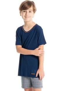 Pijama Infantil Masculino Xadrez Curto Pedro