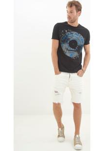 Bermuda John John Classica Florenca 3D Jeans Branca Masculina (Jeans Claro, 46)