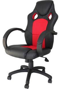 Cadeira Office Racer Preta E Vermelho - 27714 - Sun House