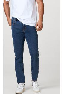Calça Jeans Moletom Masculino Skinny Com Elastano