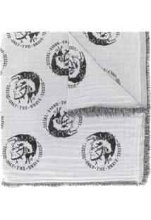 Diesel Cachecol Mohawk Com Logo - Branco