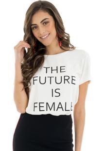 T-Shirt La Mandinne The Future Is Female Off White