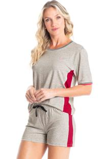 Pijama Curto Com Recortes Paola