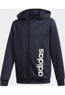 Jaqueta Infantil Adidas Com Capuz Masculina - Masculino-Marinho