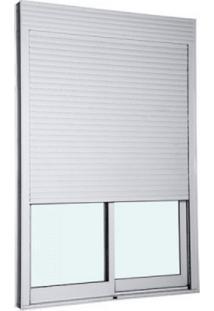 Porta Integrada Veneziana Taparella 2,20 X 2,00 Com Persianas De Enrolar E Sistema Blackout Cor Branco