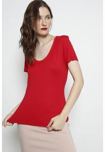 Camiseta Lisa Com Tag- Vermelha- Forumforum