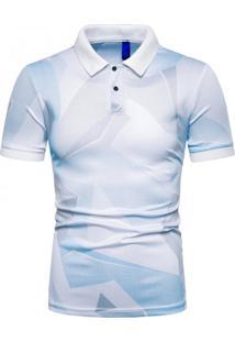 Camisa Polo Estampada Future - Branco G
