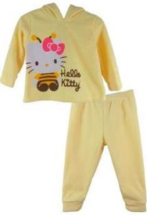 Conjunto Infantil Up Infantil Soft Hello Kitty Feminino - Feminino-Amarelo