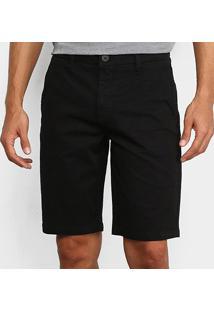 Bermuda Sarja Calvin Klein Alfaiataria Masculina - Masculino-Preto