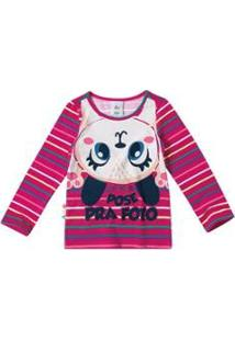 Blusa Infantil Estampada Em Cotton Light Zig Zig Zaa Feminina - Feminino