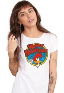 Camiseta Bandup Pica Pau Woody Woodpecker - Feminino-Branco