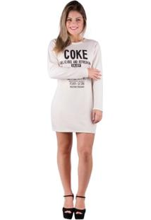 Vestido Moletom Creme - Feminino