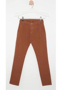 Calça Jeans Express Tito Masculina Infantil - Masculino-Marrom