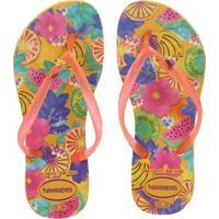 1aa91d2977 Chinelo Havaianas Slim Summer Infantil - Feminino-Amarelo