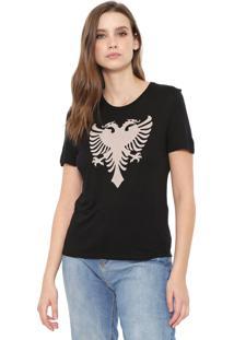 Camiseta Cavalera Águia Corrosão Preta