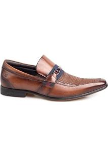 Sapato Social Masculino Rafarillo Couro Liso Bico Quadrado - Masculino-Amadeirado