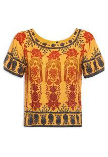 T-Shirt Farm Araras De Cor - Amarelo