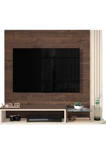 """Painel Para Tv De 48"""" Londres- Mobler - Madero / Off White"""