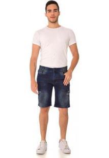 Bermuda Jeans Express Noah Masculina - Masculino-Azul