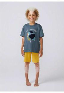 Pijama Infantil Menino Com Bordado Cinza