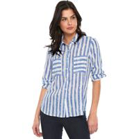 2d82df19c07f8e Camisa Listras Poliester feminina | Shoes4you