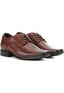 Sapato Social Pegada Perfuros Bico Fino Masculino - Masculino-Marrom Claro