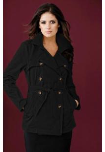 Casaco Trench Coat Preto