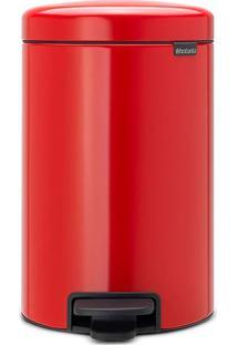 Lixeira New Icon- Inox & Vermelha- 12L- Spicym.Cassab