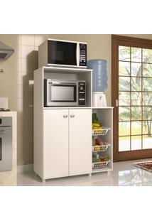 Armário De Cozinha Multiuso 2 Portas Com Fruteira Branco - Multimóveis