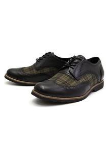 Sapato Oxford Shoes Grand Chess Preto