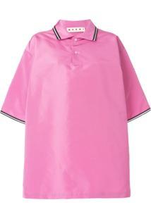 Marni Camisa Polo Oversized - Pink   Purple 20301ea5ff716