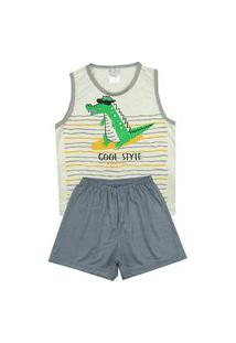 Pijama Masculino Infantil Jacaré