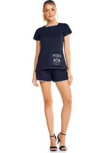 Camiseta Vida Mansa Recorte Com Estampa Preta - Kanui