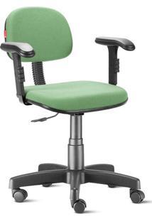 Cadeira Escritório Verde Claro Com Braços