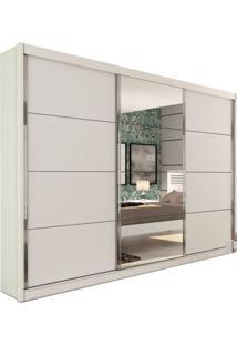 Guarda-Roupa Casal Com Espelho Los Angeles 3 Pt Branco