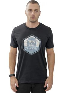 Camiseta Cheiro De Gasolina Kombi Classic Preta