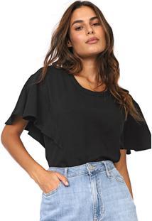 Camiseta Forum Lisa Preta - Preto - Feminino - Viscose - Dafiti