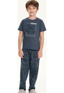 Pijama Infantil Manga Curta Montanhas 66389 Cor Com Amor