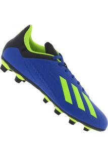 Chuteira De Campo Adidas X 18.4 Fg - Adulto - Azul Verde Cla eb86acb826e37