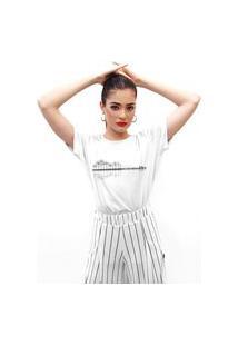 Camiseta Feminina Mirat Guitar Tree Branco