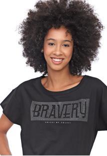 Camiseta Colcci Aplicaã§Ã£O Preta - Preto - Feminino - Algodã£O - Dafiti