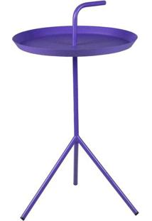 Mesa Apoio Handle Violeta Com Base Aco 41 Cm (Larg) - 43474 - Sun House