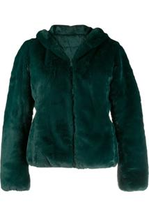 Save The Duck Reversible Faux-Fur Hooded Jacket - Verde