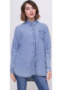 Camisa Oversized Em Jeans